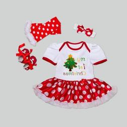 Newborn Christmas Clothes Baby Girls Clothing Set My First C