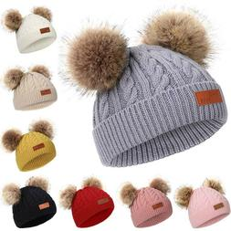 Newborn Kids Baby Boys Girls Hats Winter Warm Crochet Knitte