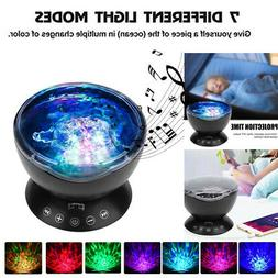 Night Light Projector Music Player 12 LED 7 Color Lamp Nurse