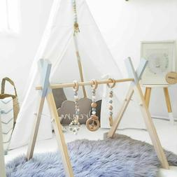 Nordic Wooden Baby Gym With Rattles Nursery Shelf Baby Home
