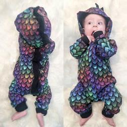 Novelty Newborn Baby Girl Boy Dinosaur Romper Bodysuit Jumps