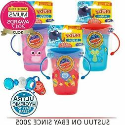 Nuby 360 Mini Handle Baby Training Spill Proof Seal with Wat
