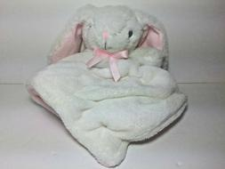 Nuby Bunny Pink & White Security Blanket Plush Baby Soother