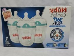 Nuby Comfort 360 Plus Anti Reflux/Colic Baby Bottle 3 Pack U