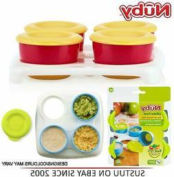 Nuby Garden Fresh Freezer Pots│Baby Food & Snack Storage w