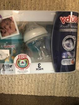 Nuby Natural Touch 9 oz Infant Baby Bottles w/Bonus Comfort