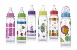 Nuby Non-drip Standard Neck Bottles | Pick 2 Designs | 8 Oun