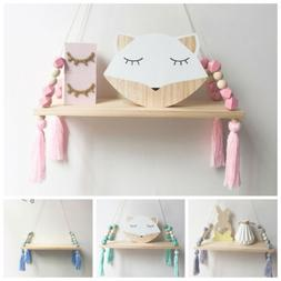Nursery Baby Bedroom Wooden Nordic Style Hanging Tassel Bead