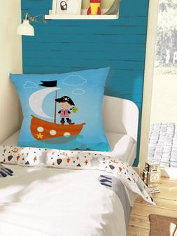 Nursery Decorative Pillow Covers Pirate Sailor Throw Cushion