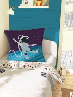 Nursery Decorative Pillow Covers Spaceman Throw Cushion Case