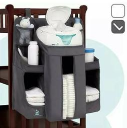 Nursery Organizer Baby Diaper Caddy Essentials Hang on Crib