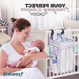 Nursery Organizer Best Hanging Diaper Caddy For Baby Crib Pl