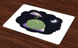 Nursery Placemats Set of 4 Ambesonne Washable Fabric Place M