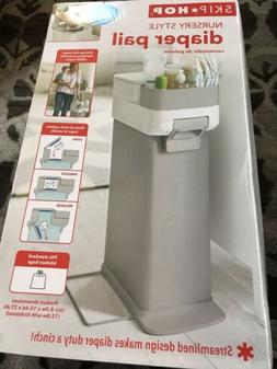 Skip Hop Nursery Style Diaper Pail Bin Trash Can Disposal Di