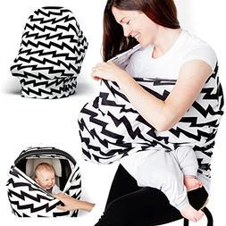 Nursing Breastfeeding Cover Scarf - Baby Car Seat Cover - Sh