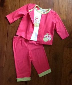 NWOT!-Nursery Rhyme-3/6M-Baby Girl Outfit-Pants, Shirt, Jack