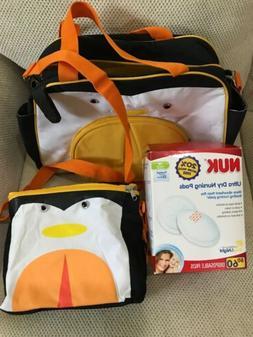 NWOT Diaper Bag+ Nuk Disposable Nursing Pads 60ct