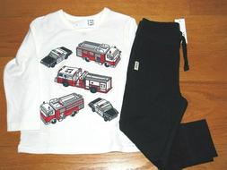 NWT Baby Gap Boy's L/S Fire Engine T-Shirt/Navy Jogger Cotto