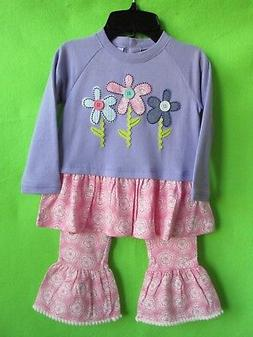 NWT 'NURSERY RHYME' BABY GIRL 2-PC TOP & PANTS SIZE 24 MOS