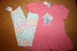 NWT Gymboree Birthday Shop 5T Set Pink Cupcake Birthday Girl