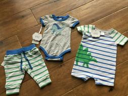 NWT Nordstrom baby boy summer spring DINOSAUR 2 outfits show