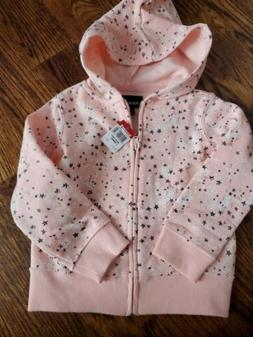 Joe Boxer NWT Infant Girls Zip Up Hoodie. Pink w/ stars.