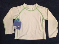 NWT iPlay Small 3-6 Month Rash Guard Swimwear WHITE Unisex L