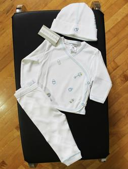 NWT Baby Steps Layette Baby Boy Size Newborn Embroidered Rat