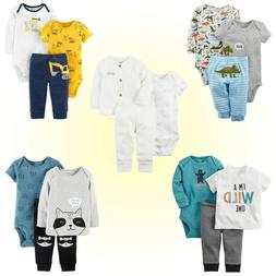 NWT New Baby Boys Carters  3-pc  Layette Set Two Tops w One