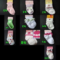 NWT Gymboree New Baby Girl Basic & Novelty SOCKS 0-3,3-6,0-6