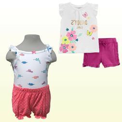 NWT New Carter's Baby Girls' 2 Piece Short Sets Playwear Sum