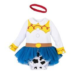 NWT Disney Store Jessie Baby Costume Bodysuit and Headband T