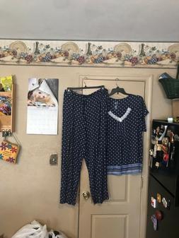 NWT sz 3x blue print pajamas Croft & barrow