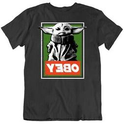 Obey Baby Yoda Funny Star Wars Parody Meme Fan T Shirt