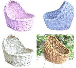 Organic Woven Wicker Bassinet Baby Gifts Crib Colours Rattan