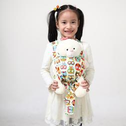 Owl Baby Doll Carrier Mei Tai Sling Toy Kids Toddler Front B