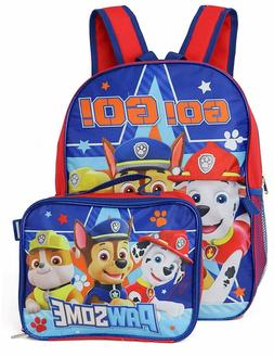Paw Patrol Boys School Backpack Lunch Box Book Bag Combo Set