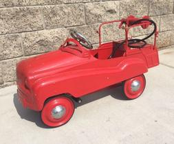 Pedal Car Fire Truck Vintage Kids Ride On Toy Children Gift