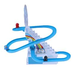 Penguin Climb Stairs Track Toys,Children's Classic Electric
