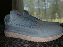 Adidas Pharell Williams Tennis Hu Shoes Size 8 blue baby blu