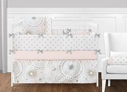 Sweet Jojo Pink Gold Celestial Moon Star Girls Baby Bedding