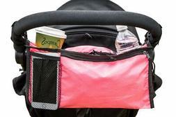 Pink Stroller Organizer Bags. Lightweight Stroller Accessori
