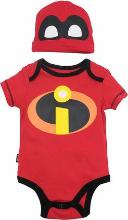 Disney Pixar The Incredibles Baby Costume Bodysuit and Hat R