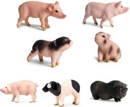 Plastic Realistic Farm Animal Pig Model Action Figure Toy fo