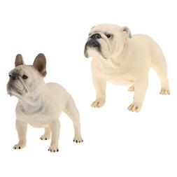 Plastic Simulation Bulldog Animal Model Figures Toy for Kids