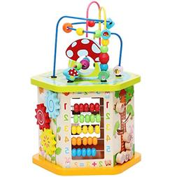 Play Cube Activity Center Multifunctional Bead Maze Toddler