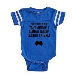 CafePress Play Video Games Like My Un Baby Football Bodysuit