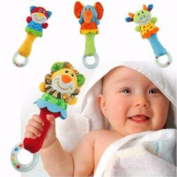 Plush Animal Baby Hand Bell Rattles Kids Infant Toddler Toy