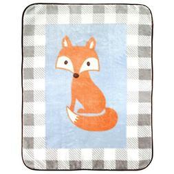 Plush Blanket Fox Baby Shower Gift Warm Soft Fluffy Bedding
