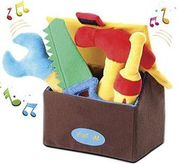 Kleeger Plush Tool Play Set for Toddlers  with Carrier Box |